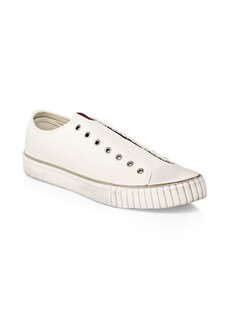 John Varvatos Laceless Low-Top Slip-On Leather Sneakers
