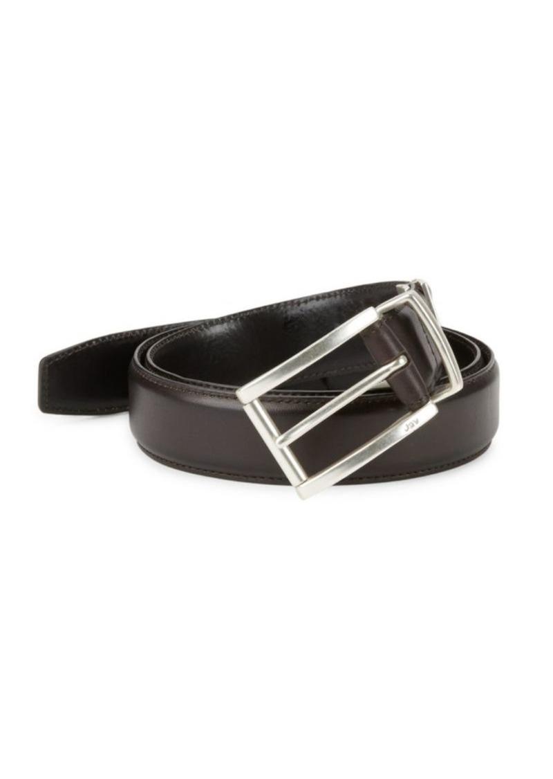 John Varvatos Leather Feather Edge Belt