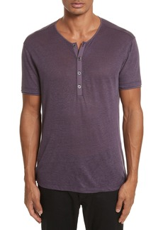 John Varvatos Collection Linen Henley T-Shirt