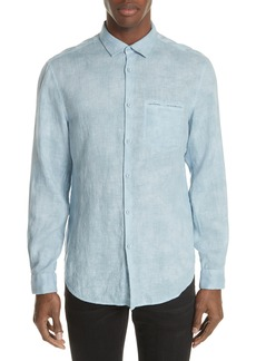 John Varvatos Collection Linen Sport Shirt