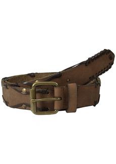 John Varvatos Men's 38mm Leather Belt with Harness Buckle