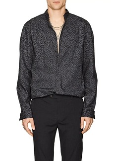John Varvatos Men's Abstract-Print Cotton Poplin Shirt