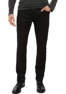 John Varvatos Men's Bowery Fit Jean V Stitch Pocket Zip Fly Low Rise Slim Straight Leg in