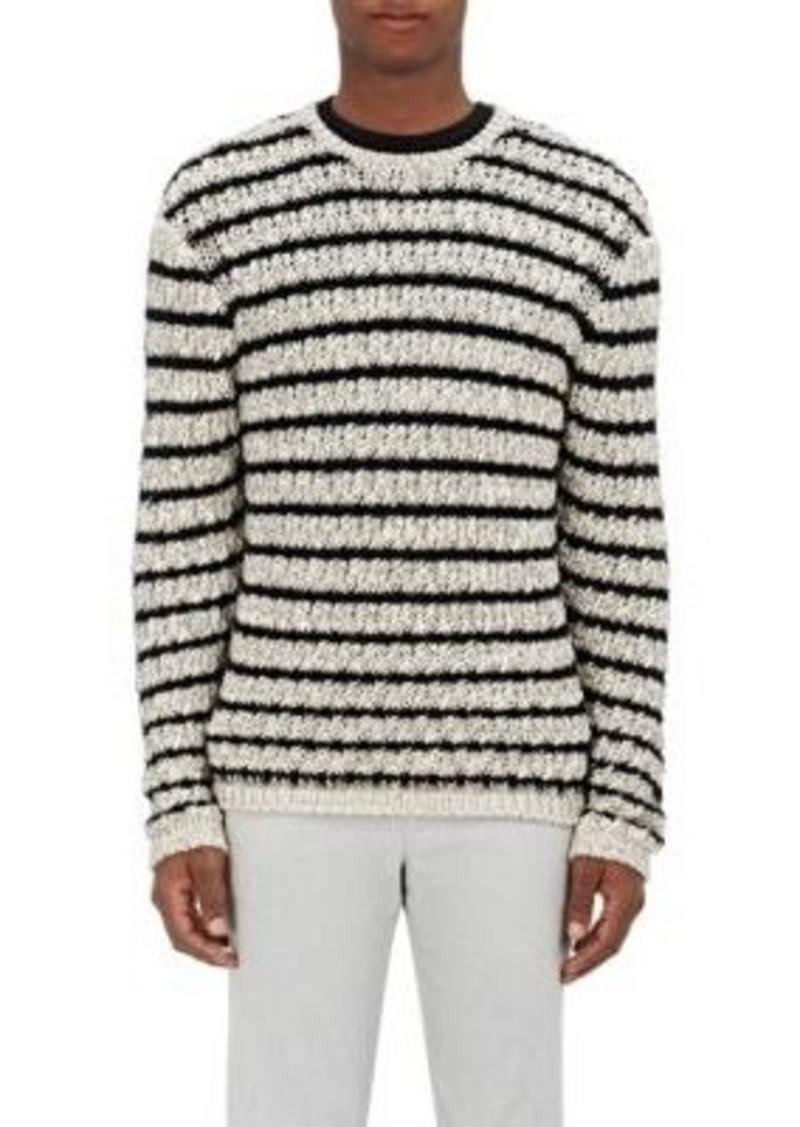 John Varvatos Men's Chain-Stitched Sweater