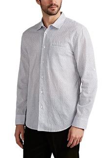 John Varvatos Men's Checked Cotton-Blend Shirt
