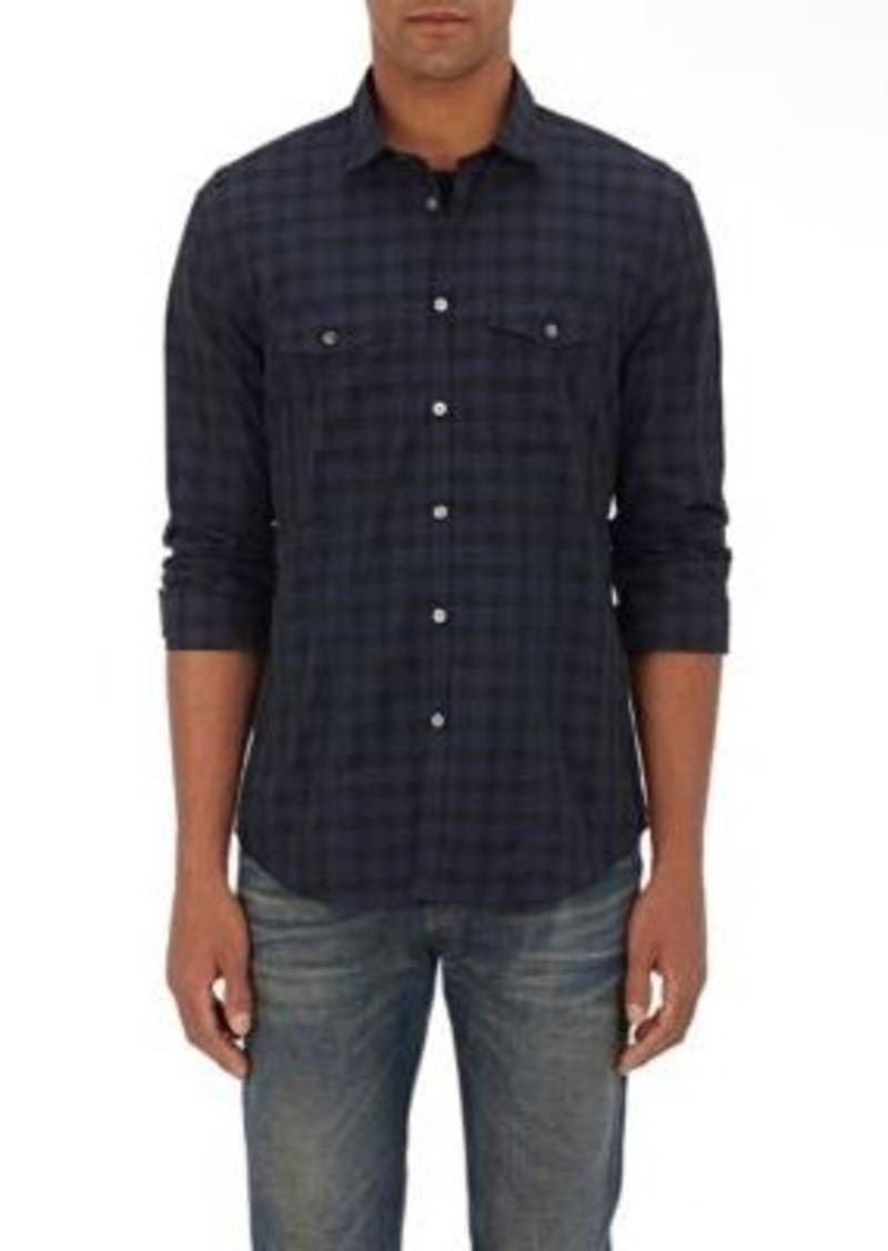 John varvatos john varvatos men 39 s checked cotton dress for Mens black dress shirts sale