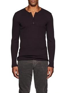 John Varvatos Men's Cotton-Blend Rib-Knit Henley
