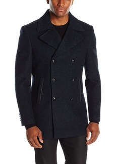 John Varvatos Men's Double Breasted Peacoat  X-Large