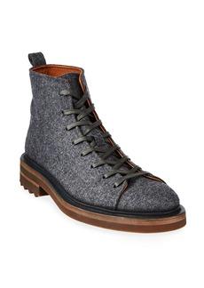 John Varvatos Men's Essex Trooper Wool Felt Ankle Boots