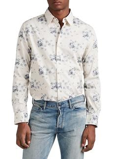 John Varvatos Men's Floral Cotton Jacquard Shirt