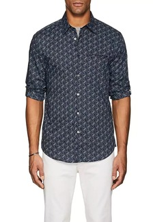 John Varvatos Men's Floral Cotton Slim Shirt