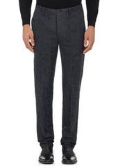 John Varvatos Men's Floral Linen-Cotton Trousers