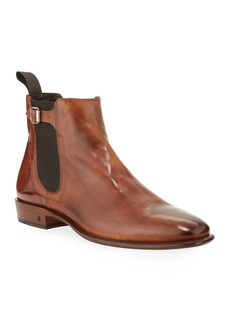 John Varvatos Men's Lewis Leather Chelsea Boots