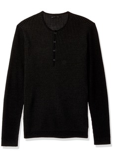 John Varvatos Men's Long Sleeve Henley