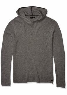 John Varvatos Men's Long Sleeve Thermal Hoodie  L