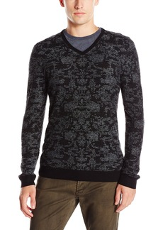John Varvatos Men's Long Sleeve Vneck Sweater