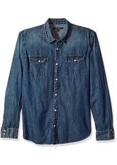 John Varvatos Men's Long Sleeve Western Shirt 63BJ