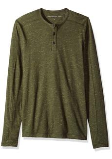 John Varvatos Men's Long Sleeved Henley BBK3B 391