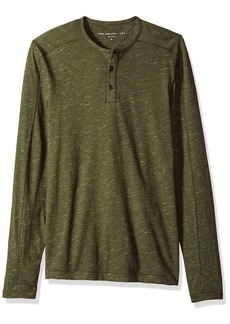 John Varvatos Men's Long Sleeved Henley BBK3B 391