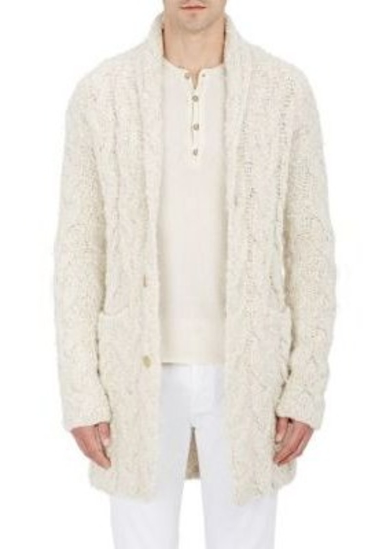 John Varvatos John Varvatos Men's Nubby Cable-Knit Cardigan ...