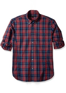 John Varvatos Men's  Plaid Slim Fit Sport Shirt