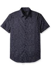 John Varvatos Men's Printed Slim Fit Sport Shirt