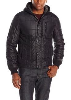 John Varvatos Men's Quilted Hooded Jacket