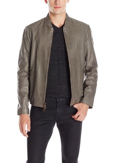 John Varvatos Men's Sage Leather Jacket Brush