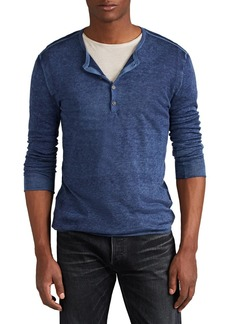 John Varvatos Men's Silk-Cashmere Henley Sweater