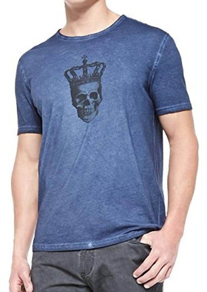 John varvatos john varvatos men 39 s skull with crown graphic for Mens t shirts sale