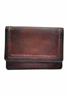 John Varvatos Men's Slim Minimalist Credit Card Holder Leather Wallet