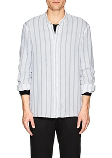 John Varvatos Men's Striped Cotton Twill Shirt