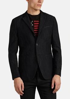 John Varvatos Men's Striped Cotton-Wool Three-Button Sportcoat