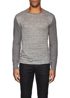 John Varvatos Men's Striped-Front Linen T-Shirt