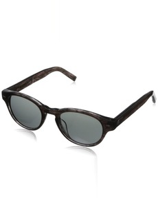 John Varvatos Men's V794 Round Plastic Sunglasses