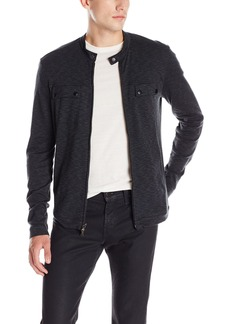 John Varvatos Men's Zip Front Knit Jacket
