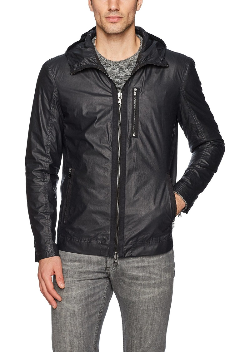 John Varvatos Men's Zip Front Short Parka