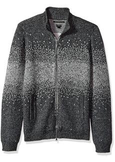 John Varvatos Men's Zip-Front Sweater