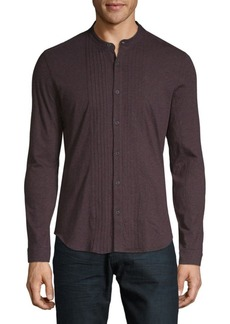 John Varvatos Mockneck Button-Down Shirt
