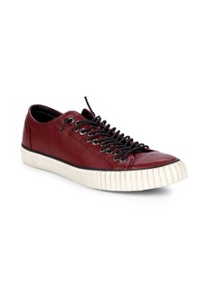 John Varvatos Multi-Lace Leather Sneakers