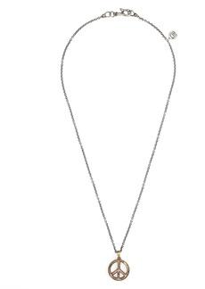 John Varvatos Peace Sign Pendant Necklace