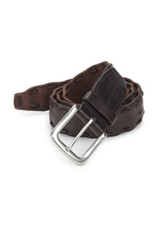 John Varvatos Pick-Stitch Leather Belt