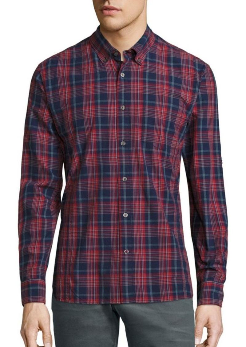 John Varvatos Star USA Plaid Button-Down Shirt