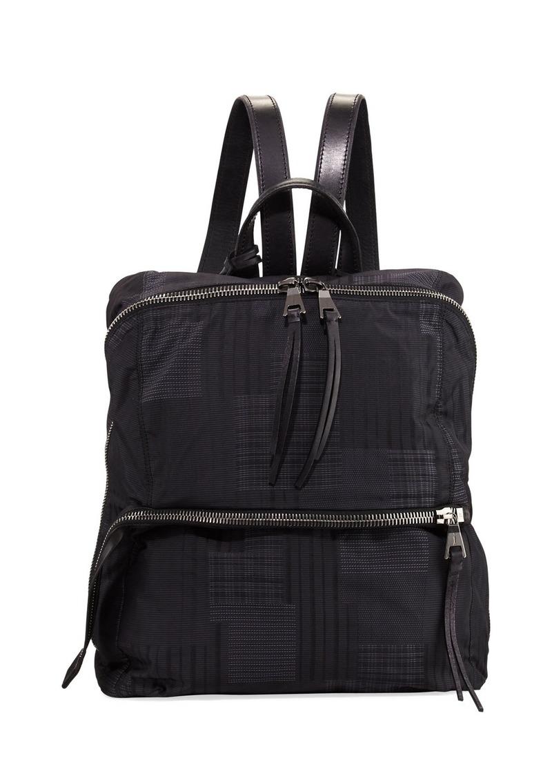 John Varvatos Plaid Nylon Backpack