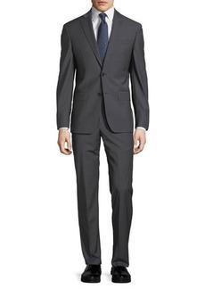 John Varvatos Plain Two-Button Wool-Blend Suit