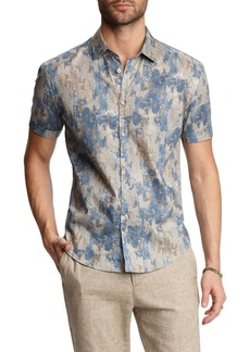 John Varvatos Slim Fit Print Sport Shirt