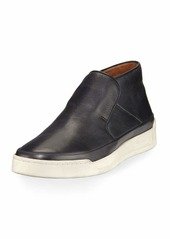John Varvatos Men's Remy Leather Mid-Top Slip-On Sneakers