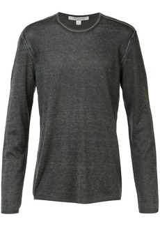 John Varvatos reverse print long sleeve sweater
