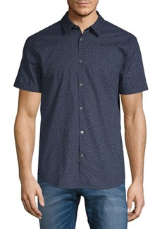 John Varvatos Short Sleeve Floral Shirt