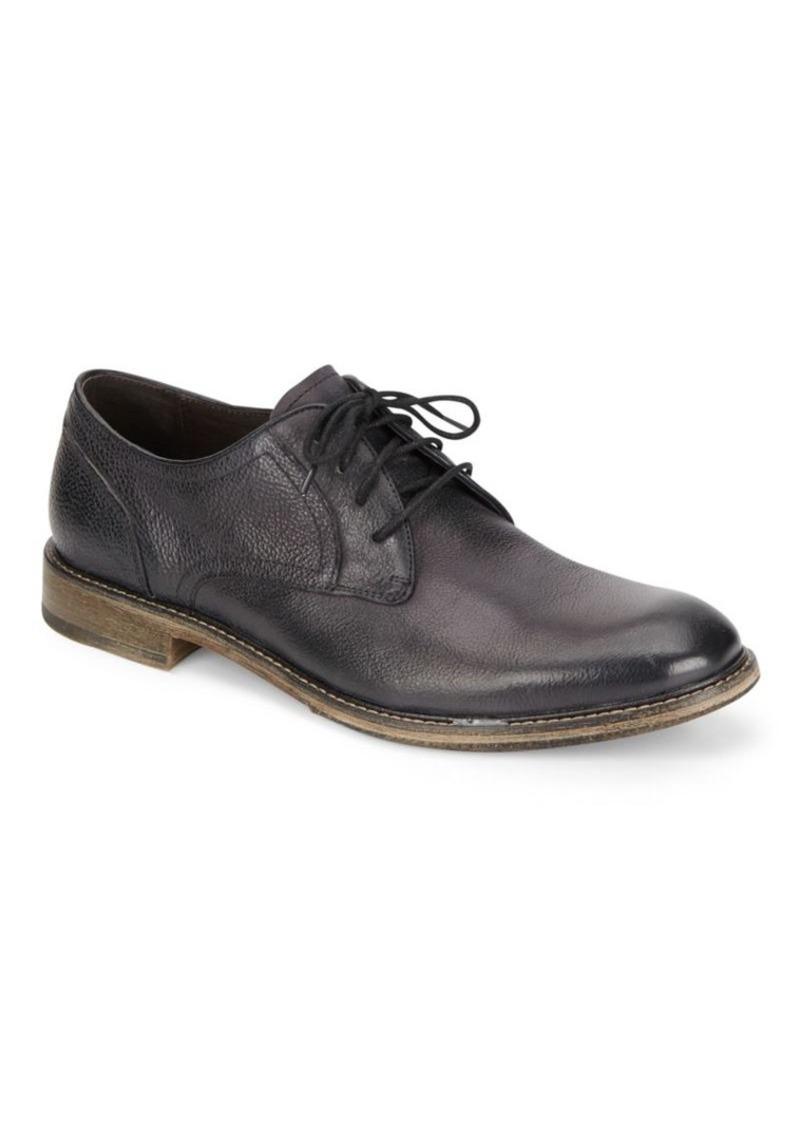 John Varvatos Sid Crepe Leather Derby Shoes